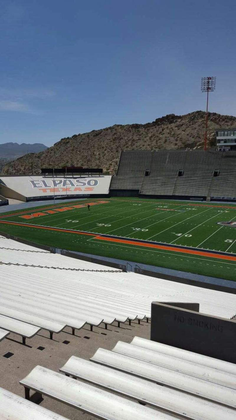 Seating view for Sun Bowl Stadium Section 21 Row 45 Seat 27