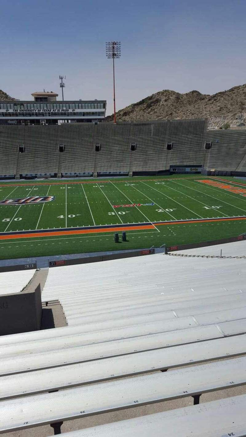 Seating view for Sun Bowl Stadium Section 22 Row 45 Seat 27