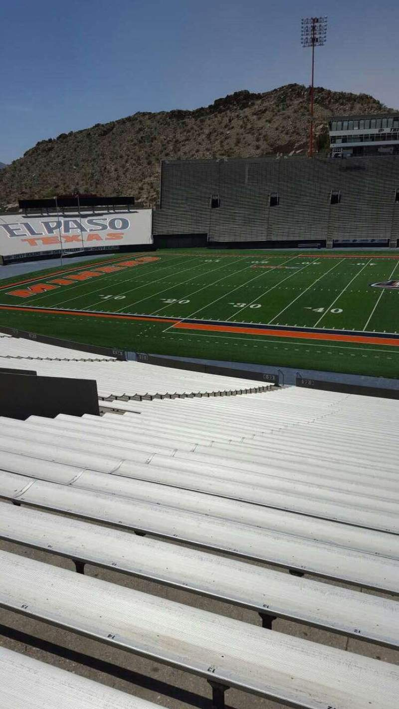 Seating view for Sun Bowl Stadium Section 22 Row 44 Seat 12