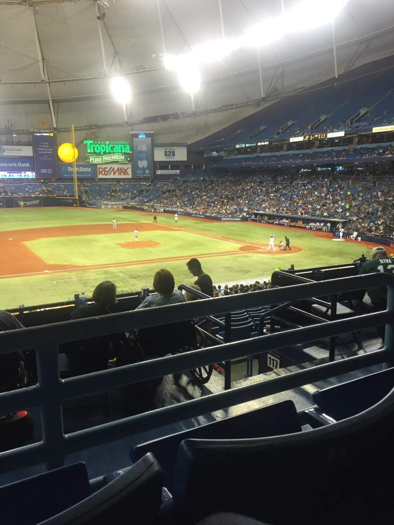 Seating view for Tropicana Field Section 119 Row QQ Seat 6 and 7