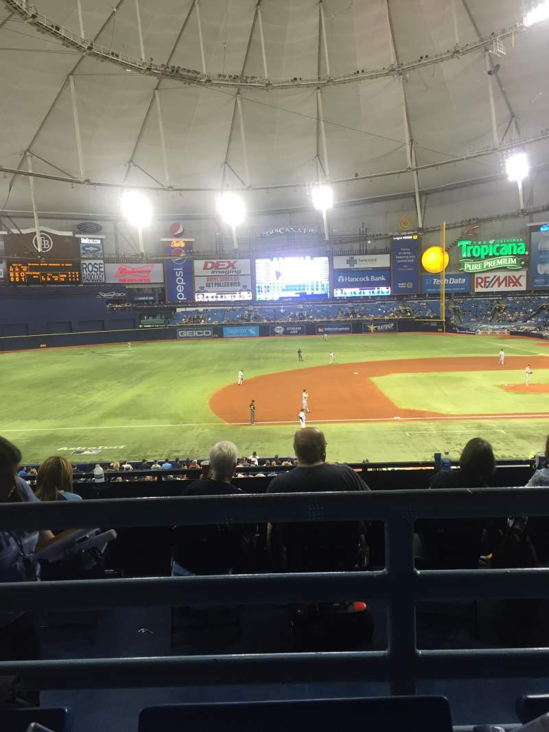 Seating view for Tropicana Field Section 119 Row QQ Seat 6