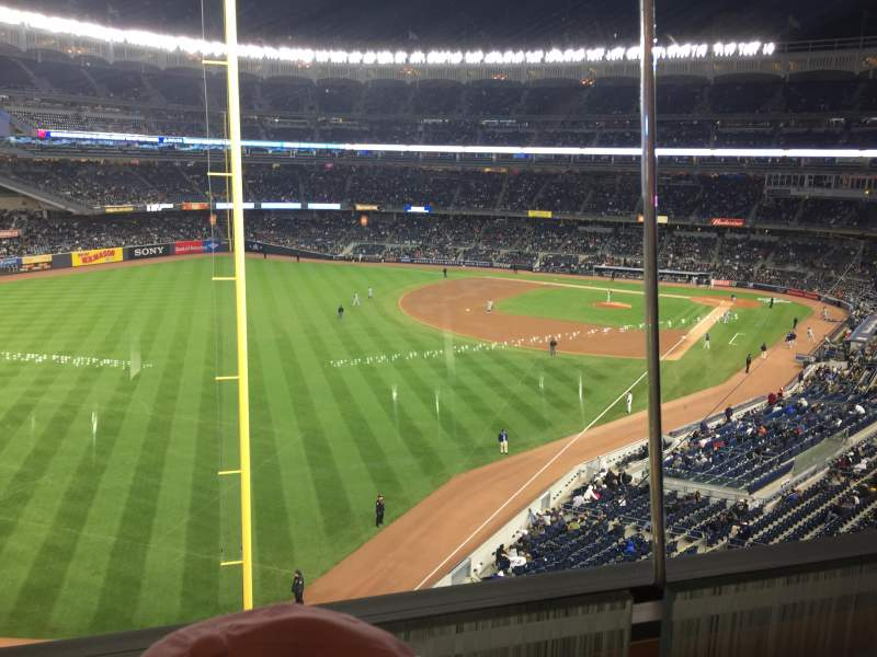 Seating view for Yankee Stadium Section Audi1 Row 1 Seat 9