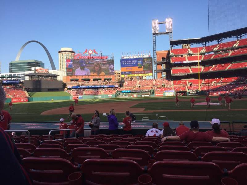 Seating view for Busch Stadium Section 156 Row 3 Seat 7