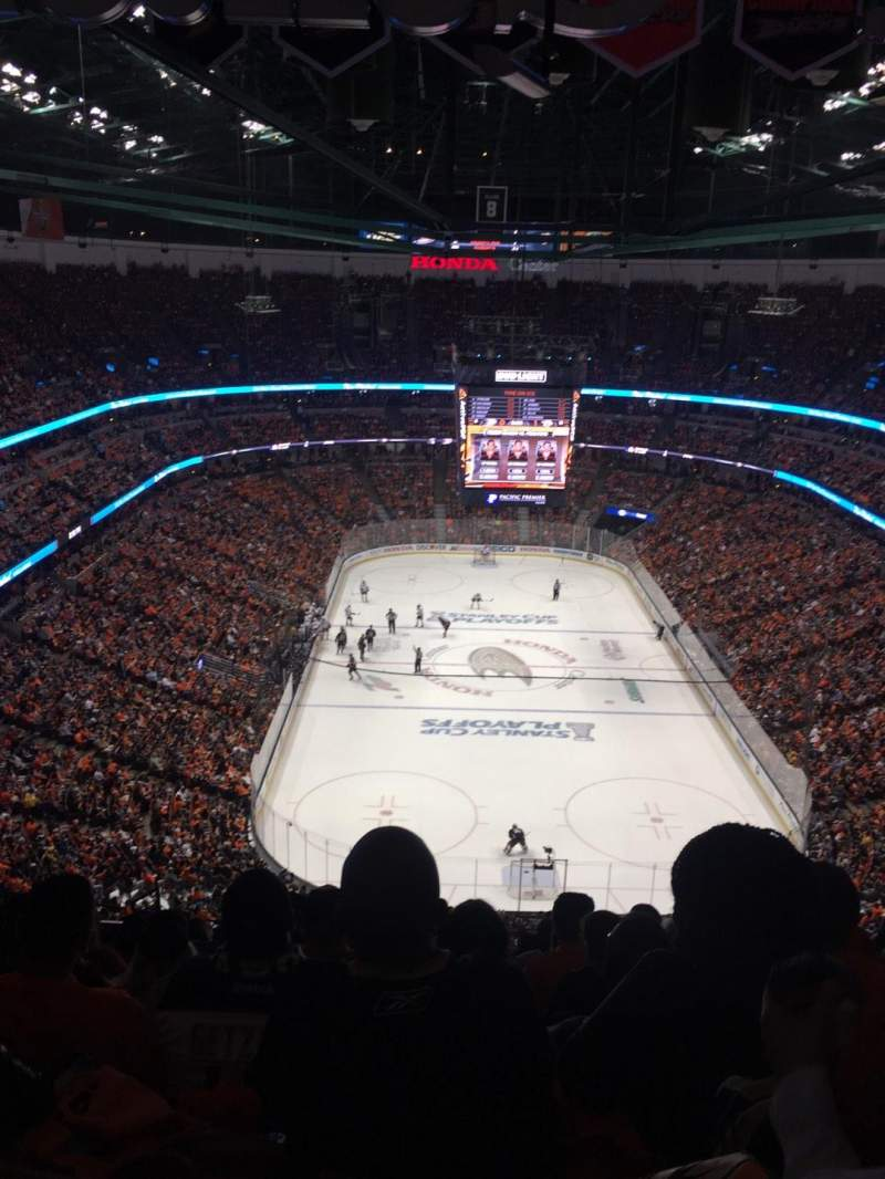 Seating view for Honda Center Section 401 Row T Seat 8