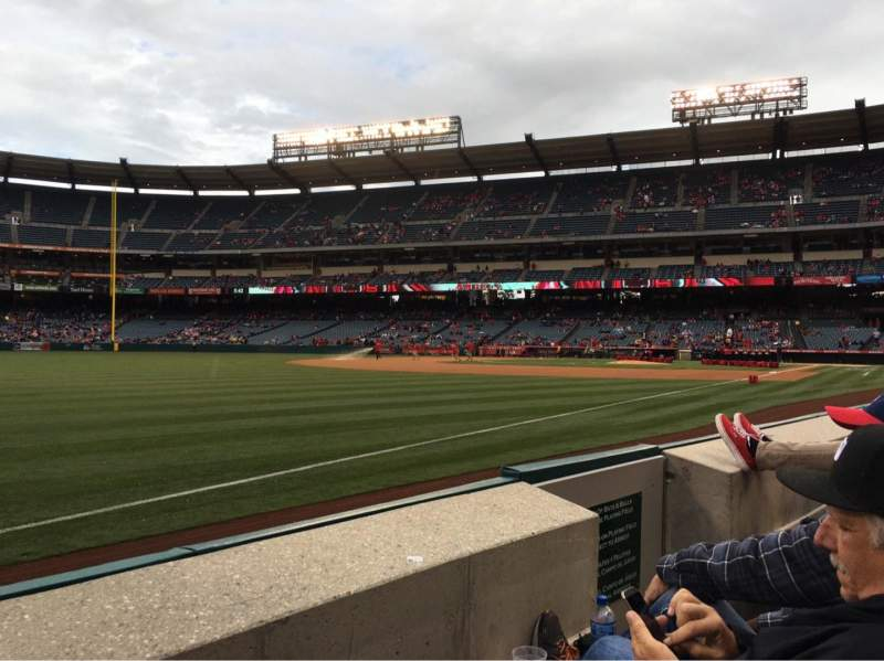 Seating view for Angel Stadium Section F106 Row B Seat 13
