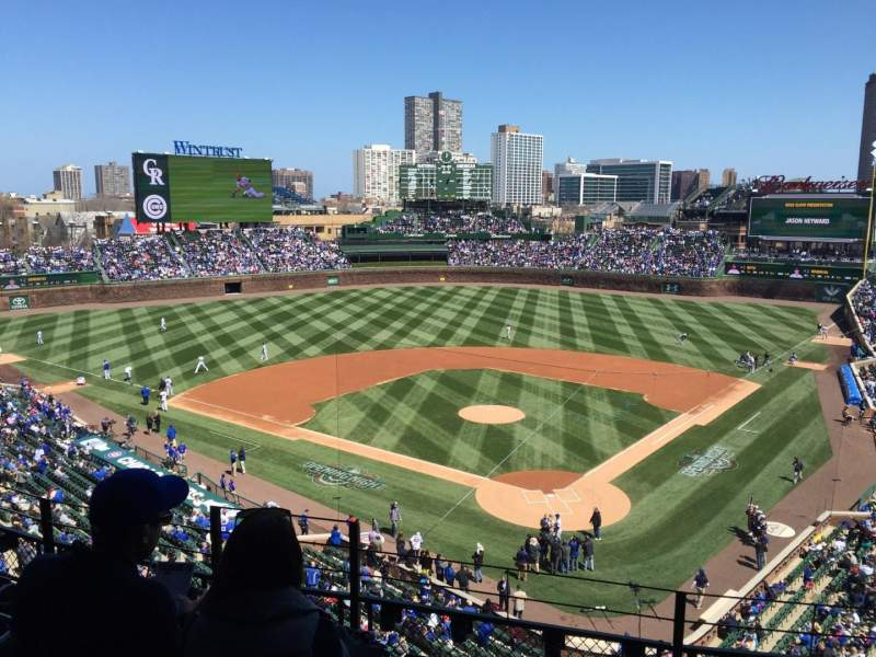 Seating view for Wrigley Field Section 419 Row 5 Seat 4