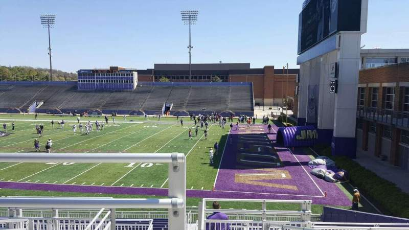 Seating view for Bridgeforth Stadium Section 201 Row g Seat 14