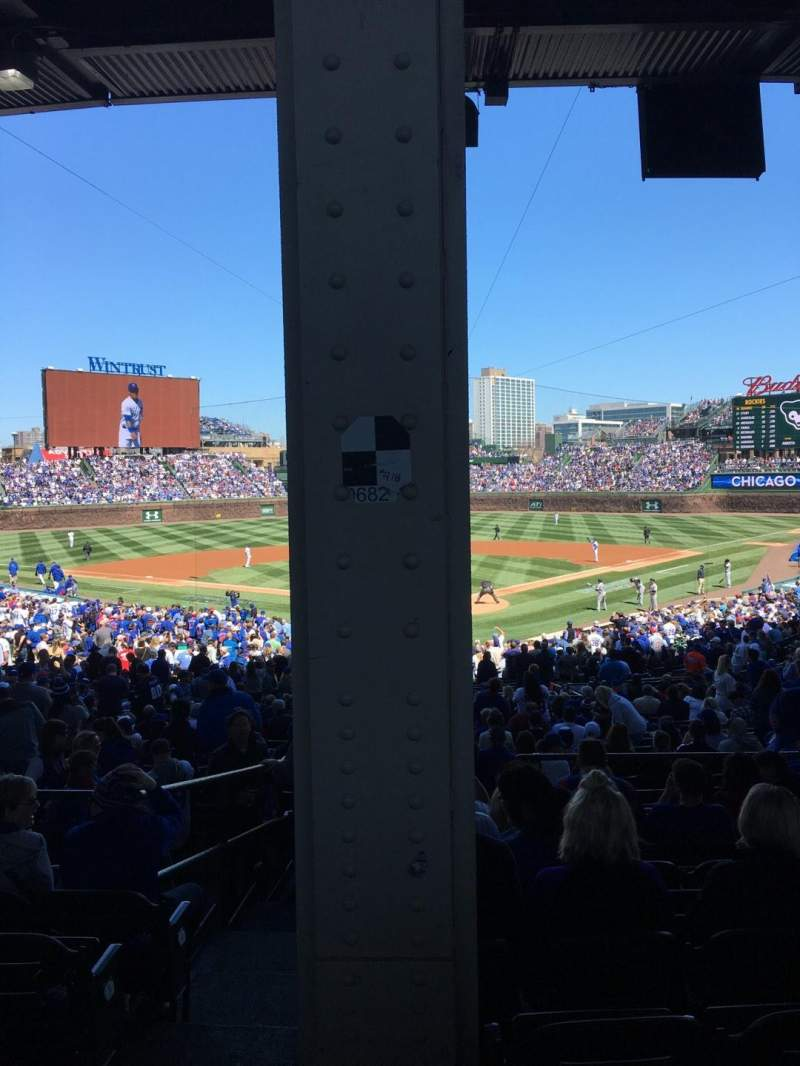 Seating view for Wrigley Field Section 220 Row 9 Seat 1