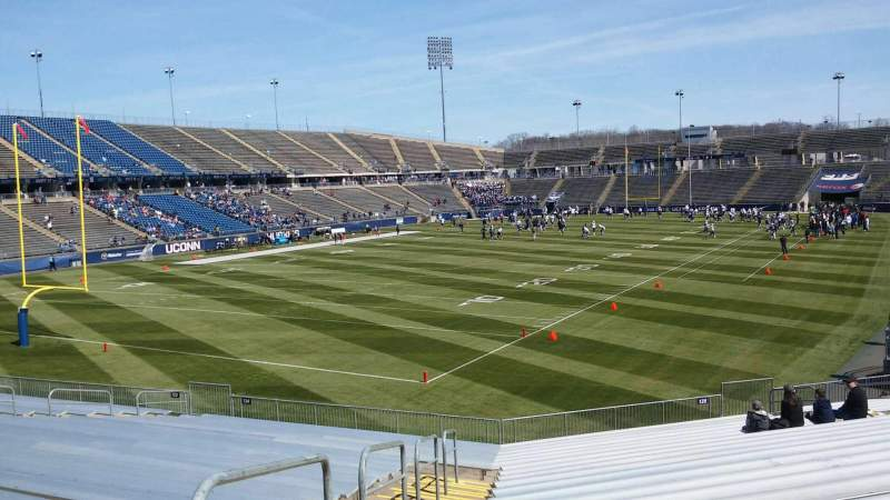 Seating view for Rentschler Field Section 135 Row 21 Seat 25