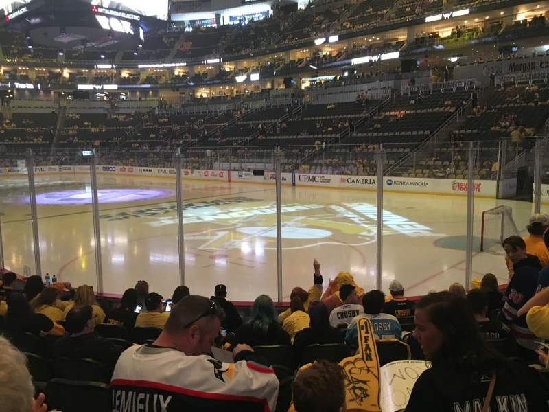 Seating view for PPG Paints Arena Section 120 Row H Seat 7