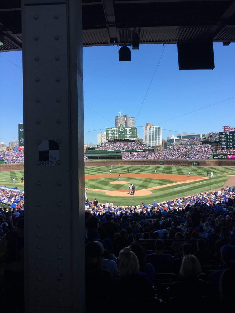 Seating view for Wrigley Field Section 220 Row 9 Seat 2