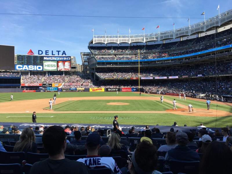 Seating view for Yankee Stadium Section 123 Row 7 Seat 8