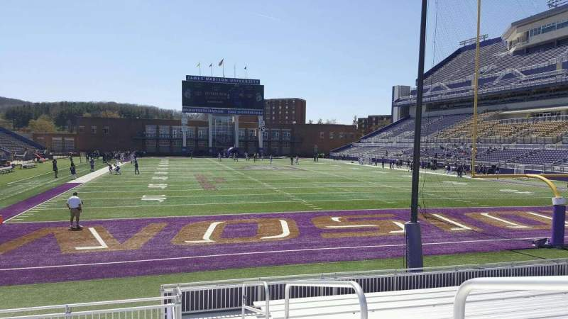 Bridgeforth Stadium, section: 120, row: l, seat: 1