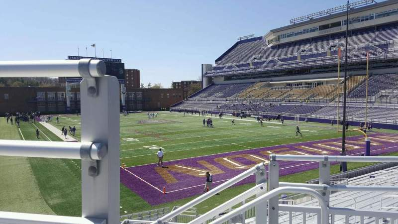 Seating view for Bridgeforth Stadium Section 222 Row p Seat 7