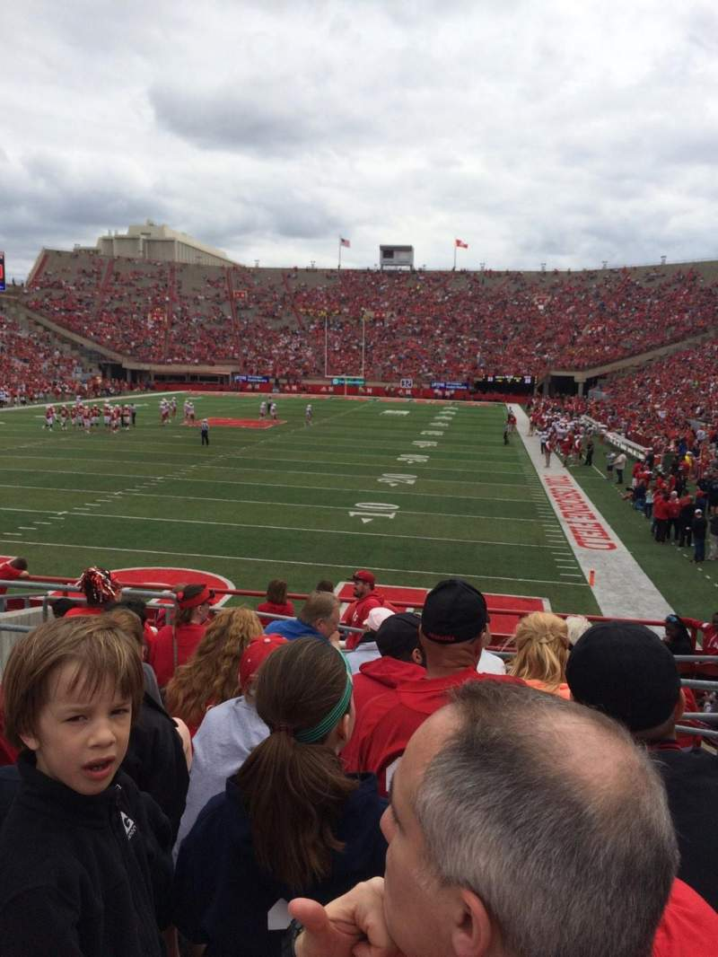 Seating view for Memorial Stadium Section 34