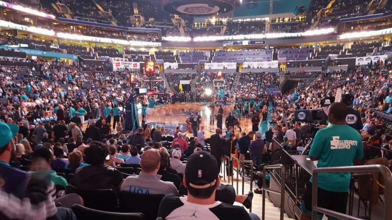 Seating view for Spectrum Center Section 117 Row L Seat 1