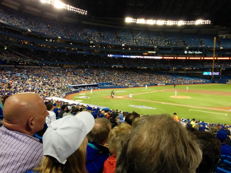 Seating view for Rogers Centre Section 116R Row 33 Seat 8