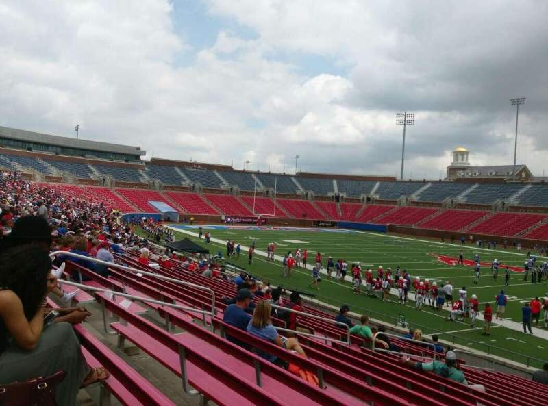 Seating view for Gerald J. Ford Stadium Section 101 Row 8