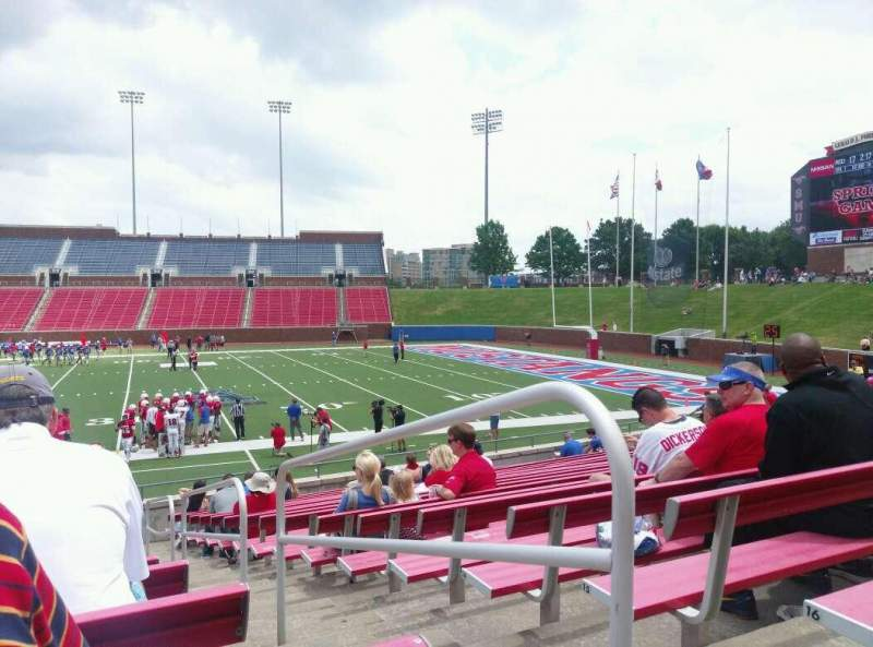 Seating view for Gerald J. Ford Stadium Section 102 Row 17