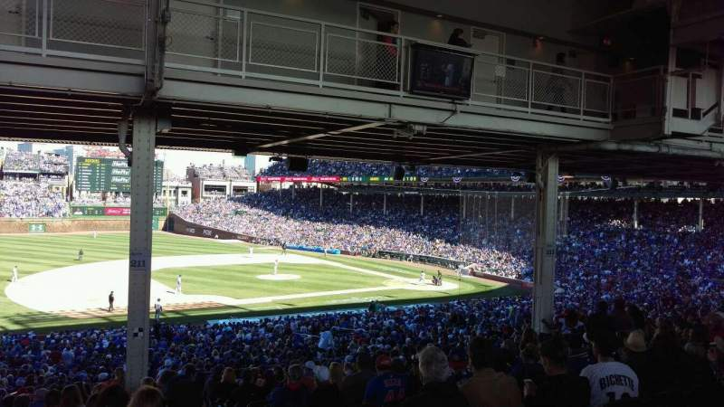 Seating view for Wrigley Field Section 211 Row 19 Seat 2