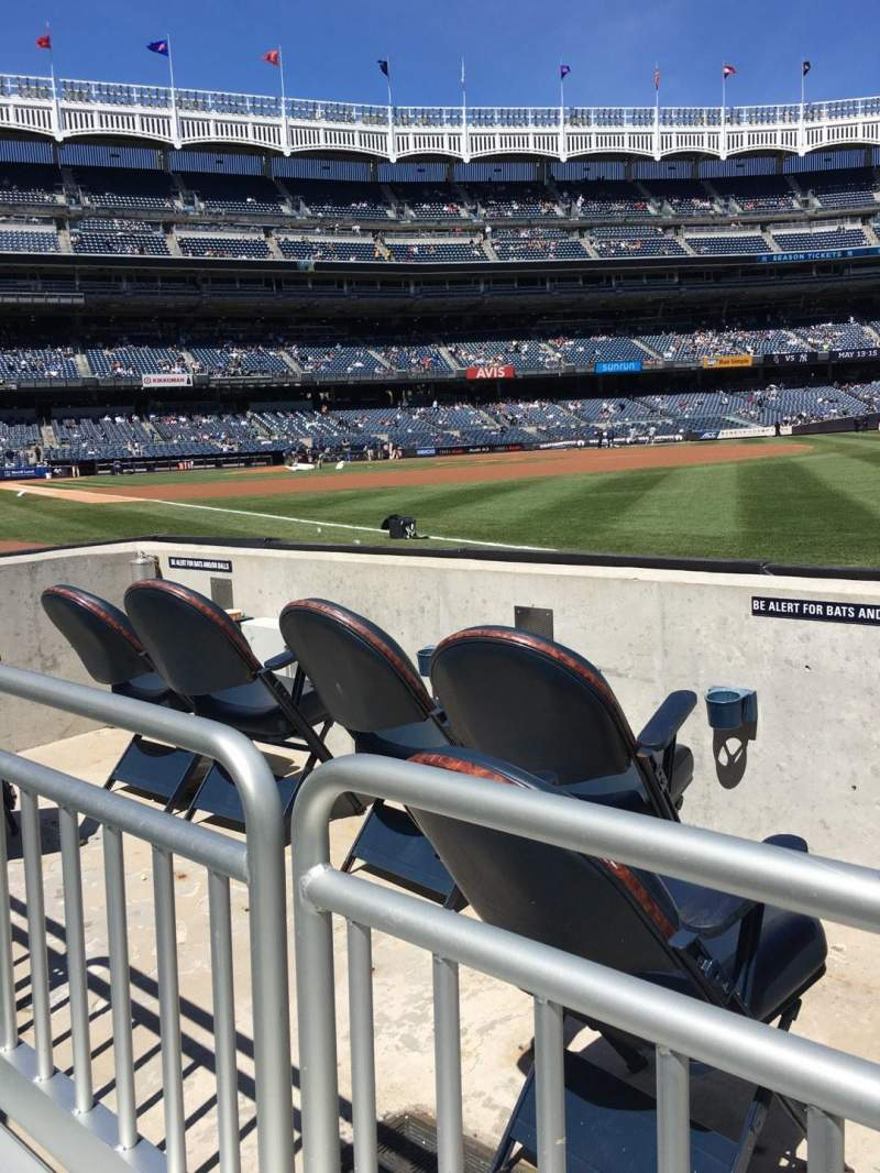 Seating view for Yankee Stadium Section 011 Row 1 Seat 3