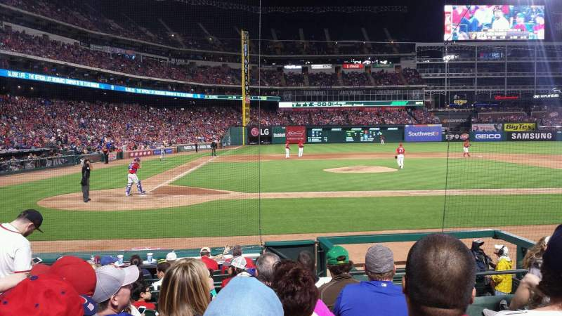 Seating view for Globe Life Park in Arlington Section 31 Row 9 Seat 8