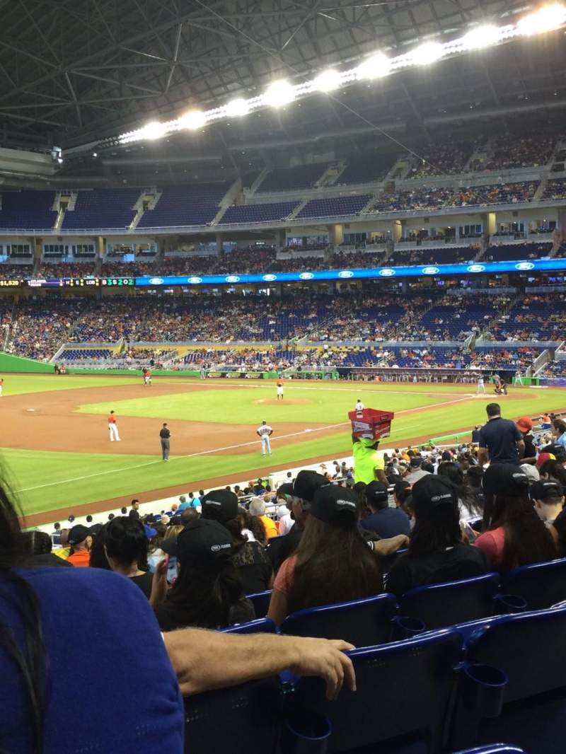 Seating view for Marlins Park Section 24 Row 14 Seat 19