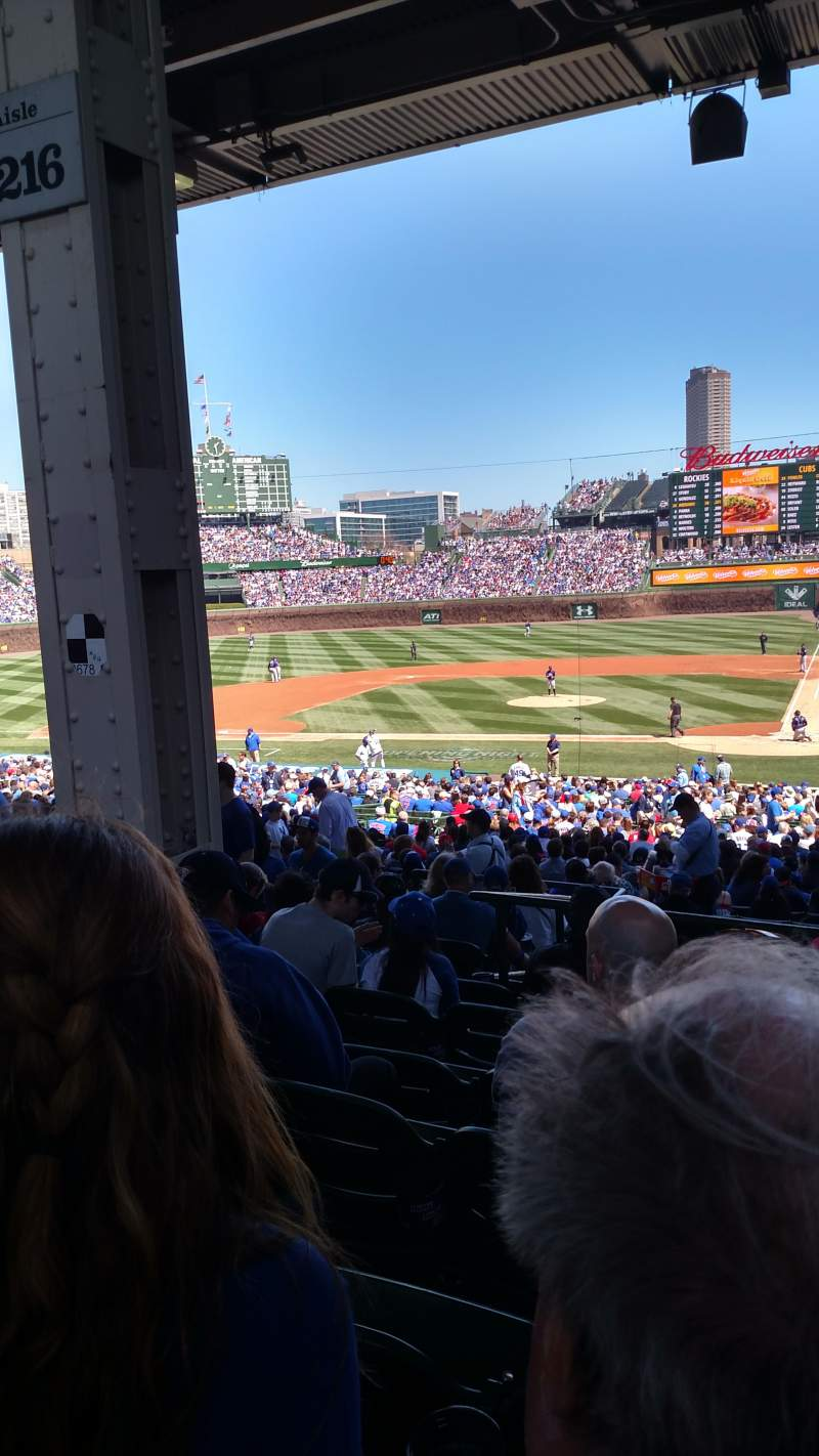 Seating view for Wrigley Field Section 216 Row 10 Seat 10