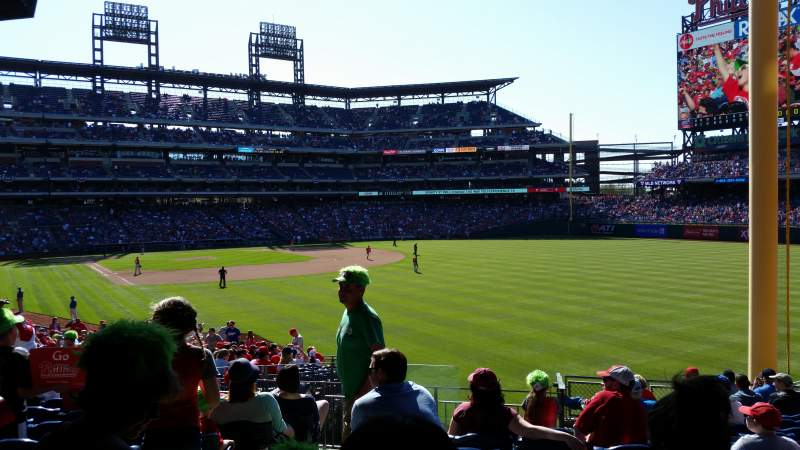 Seating view for Citizens Bank Park Section 107 Row 17 Seat 26