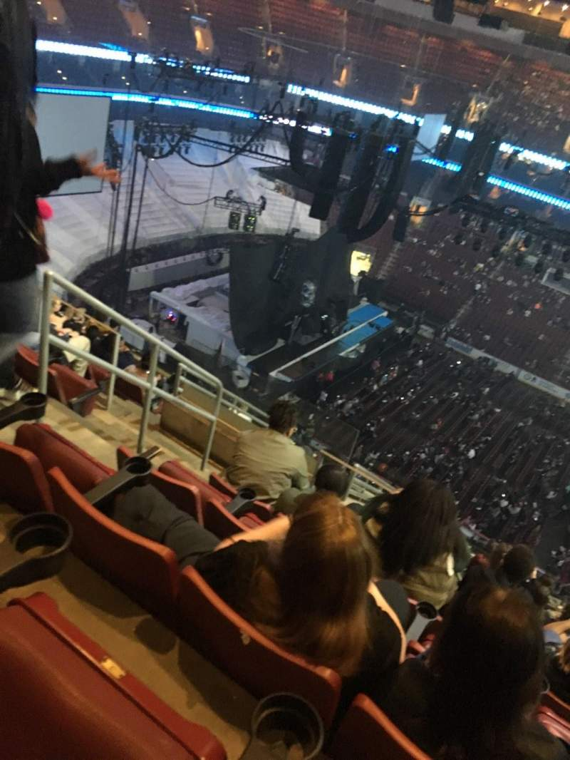 Seating view for Wells Fargo Center Section 224 Row 12 Seat 3
