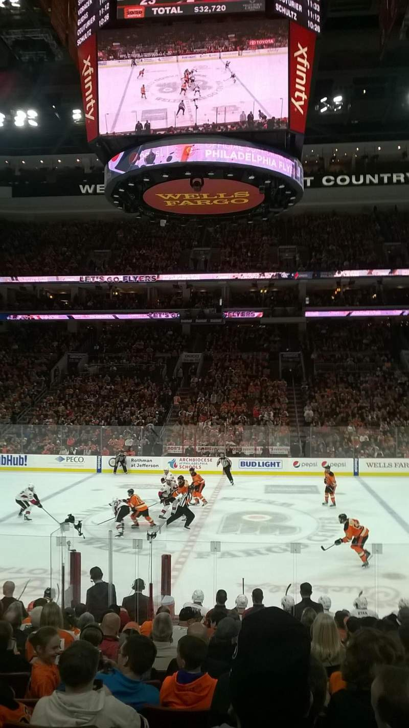 Seating view for Wells Fargo Center Section 101 Row 14 Seat 14
