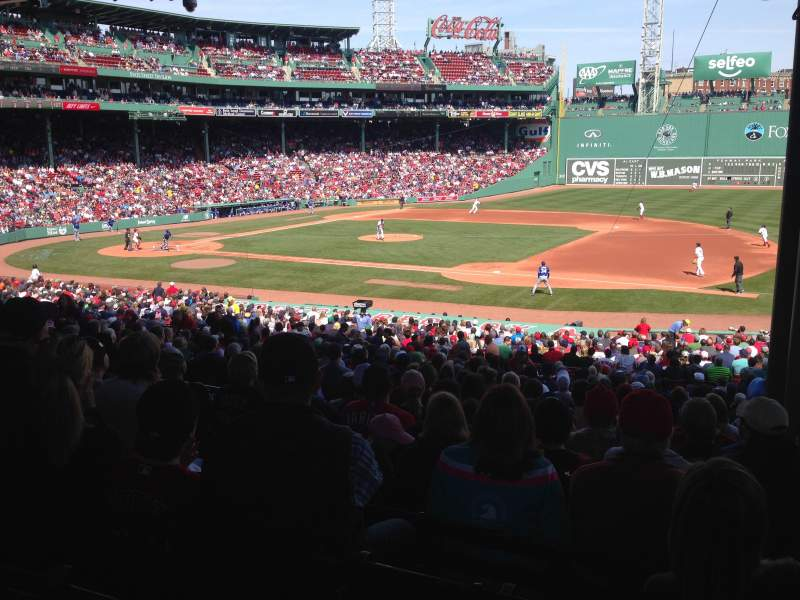 Seating view for Fenway Park Section Grandstand 14 Row 10 Seat 7