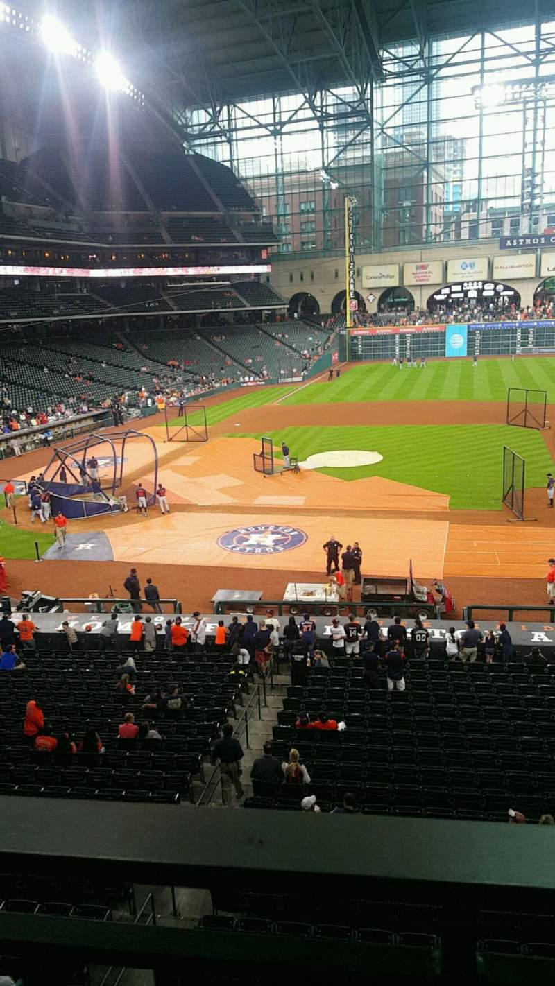 Seating view for Minute Maid Park Section 225 Row 1 Seat 7