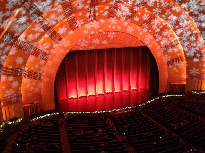 Seating view for Radio City Music Hall Section 3rd Mezzanine 6 Row A Seat 605
