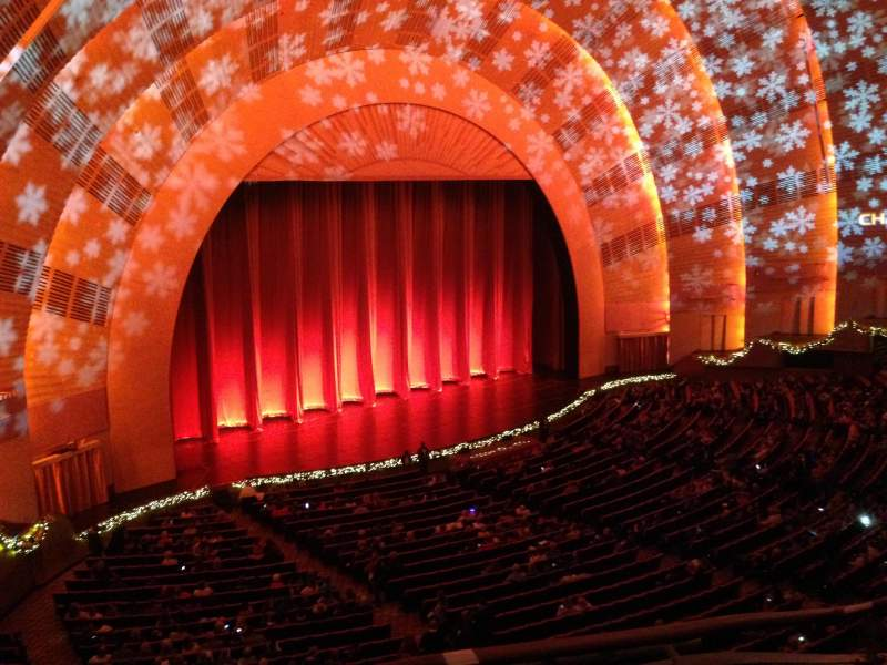 Seating view for Radio City Music Hall Section 3rd Mezzanine 7 Row A Seat 701