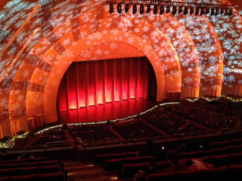 Seating view for radio city music hall Section 3rd Mezzanine 7 Row h Seat 701