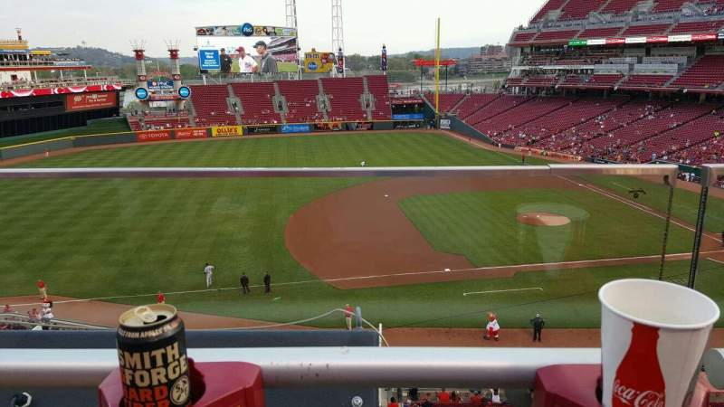 Seating view for Great American Ball Park Section 416 Row A Seat 13