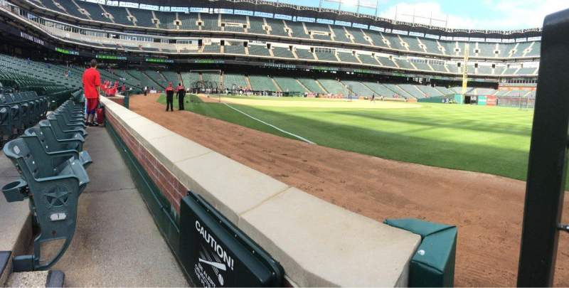 Seating view for Globe Life Park in Arlington Section 39 Row 1 Seat 1