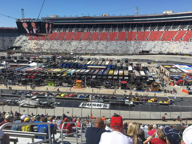Seating view for Bristol Motor Speedway Section AA Allison Towers Row 127 Seat 13