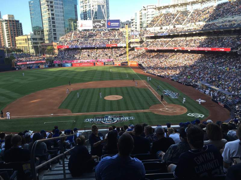 Seating view for PETCO Park Section 206 Row 14 Seat 21