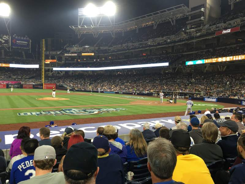 Seating view for PETCO Park Section 108 Row 14 Seat 24