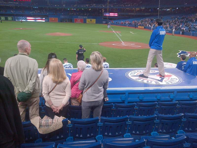 Seating view for Rogers Centre Section 125 Row 13 Seat 9