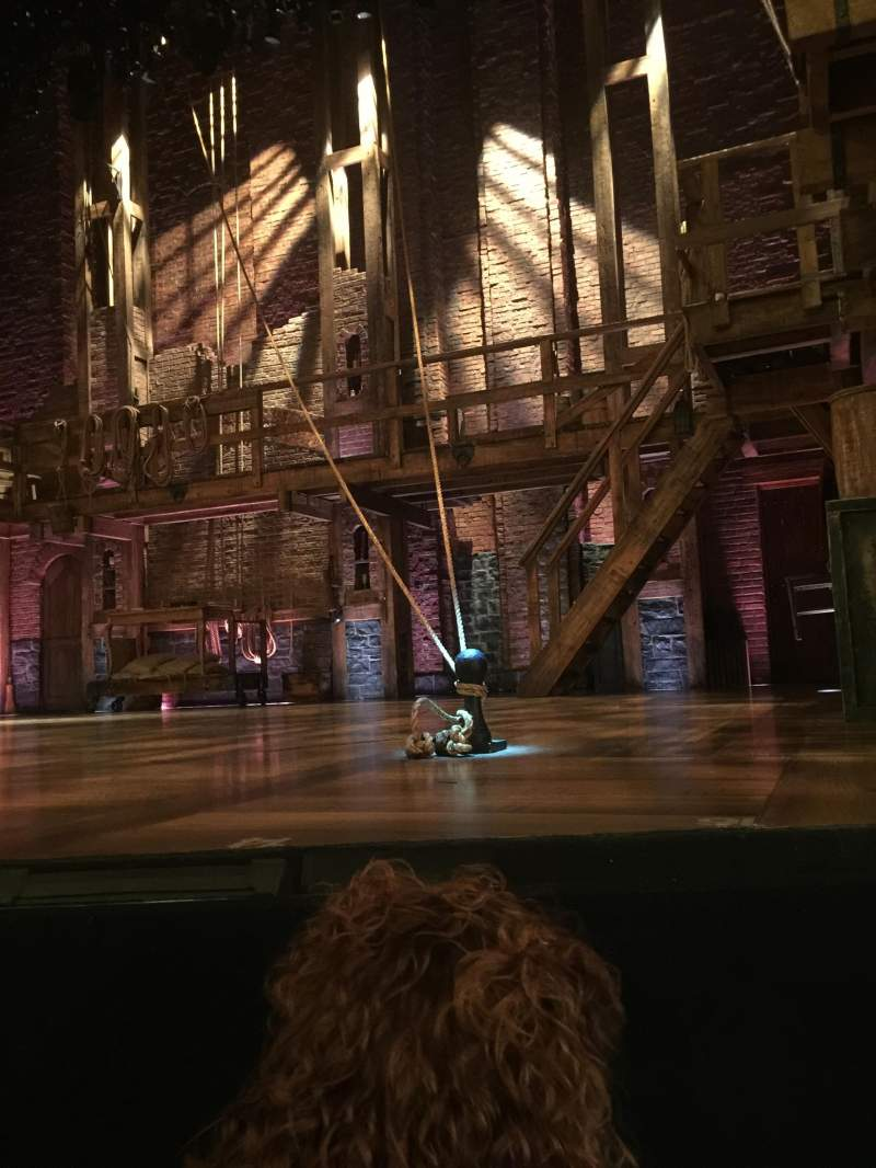 Seating view for Richard Rodgers Theatre Section Orchestra Row A Seat 4