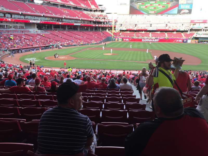 Seating view for Great American Ball Park Section 129 Row NN Seat 1