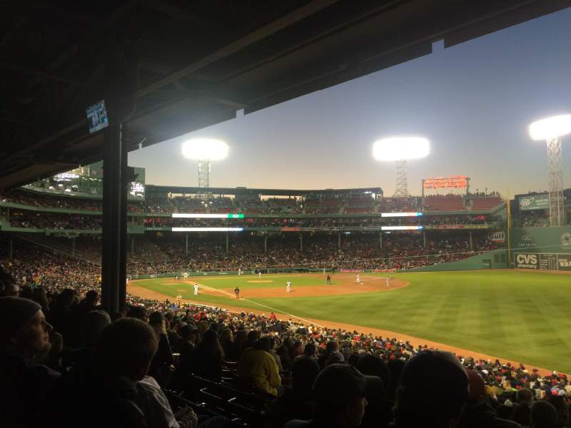 Seating view for Fenway Park Section Grandstand 7 Row 5 Seat 15