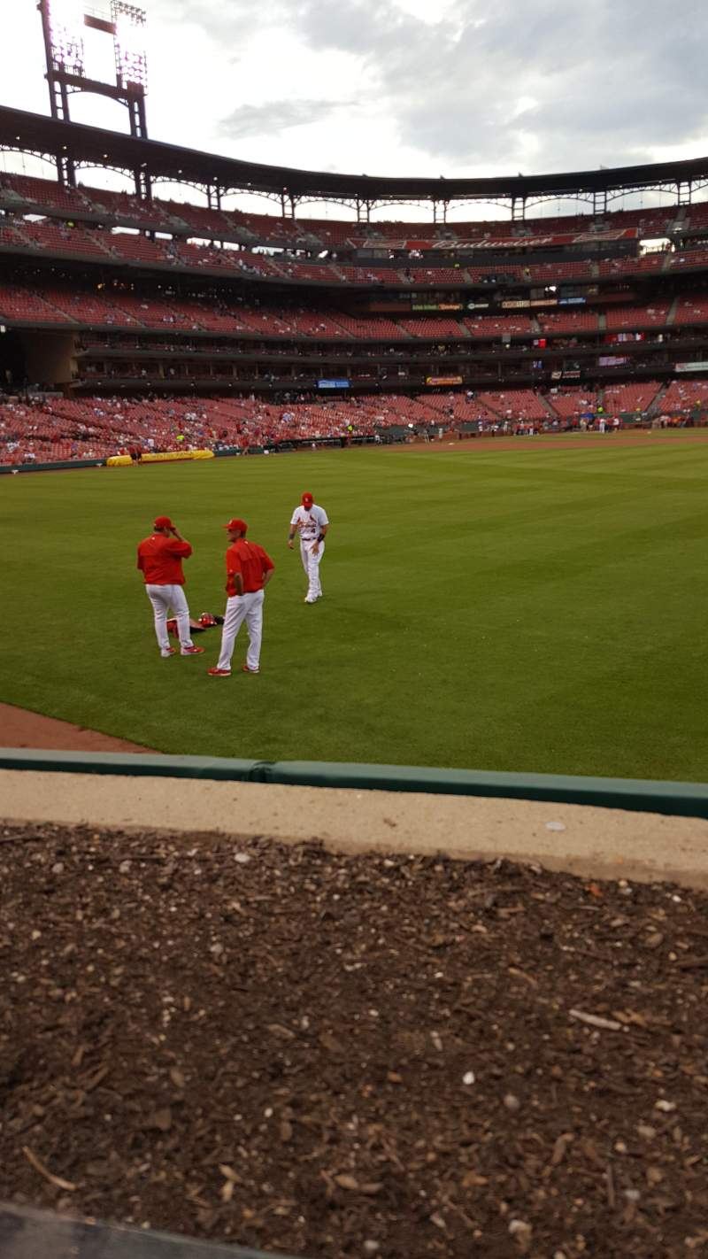 Seating view for Busch Stadium Section 105 Row 1 Seat 8