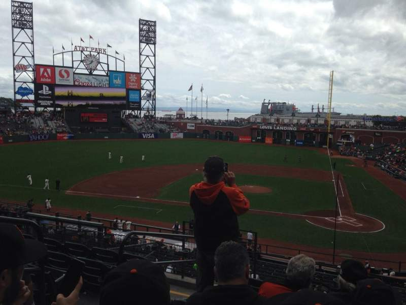 Seating view for AT&T Park Section 220 Row F Seat 12