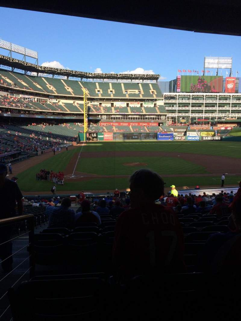 Seating view for Globe Life Park in Arlington Section 131 Row 34 Seat 12