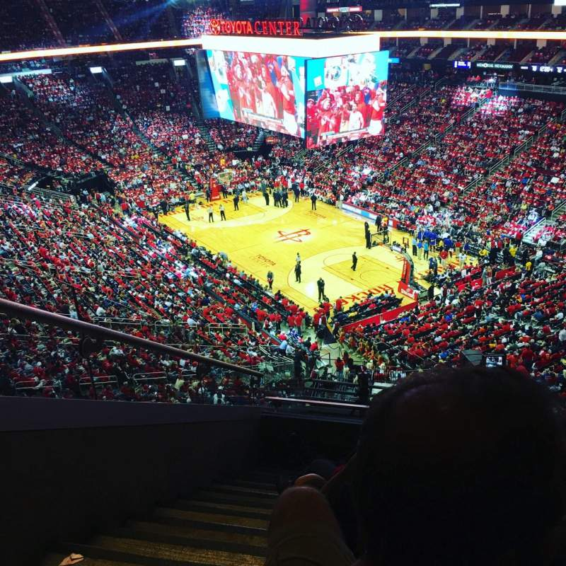 Seating view for Toyota Center Section 404 Row 9 Seat 15