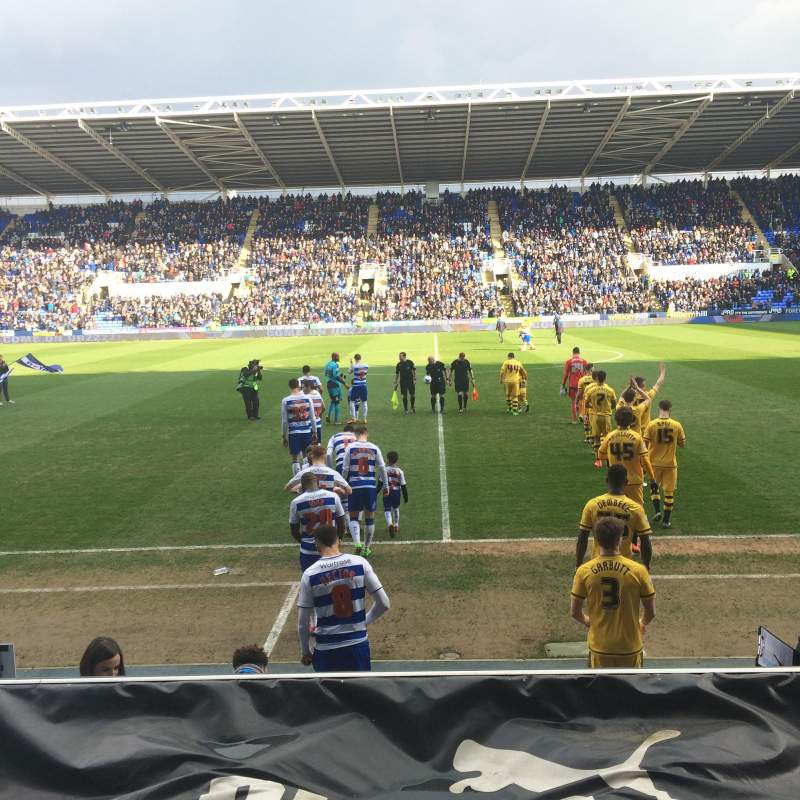 Seating view for Madejski Stadium
